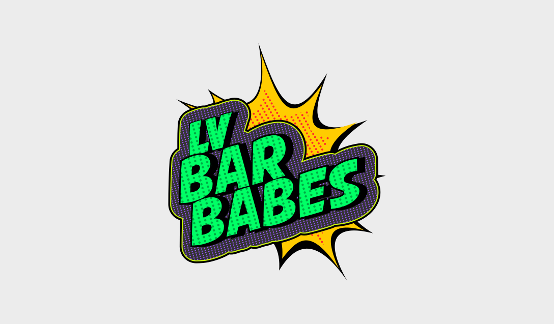 lv bar babes logo design by Justin Young at 702 Pros Las Vegas, NV 2016
