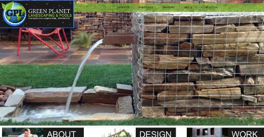 green planet landscaping website design customer