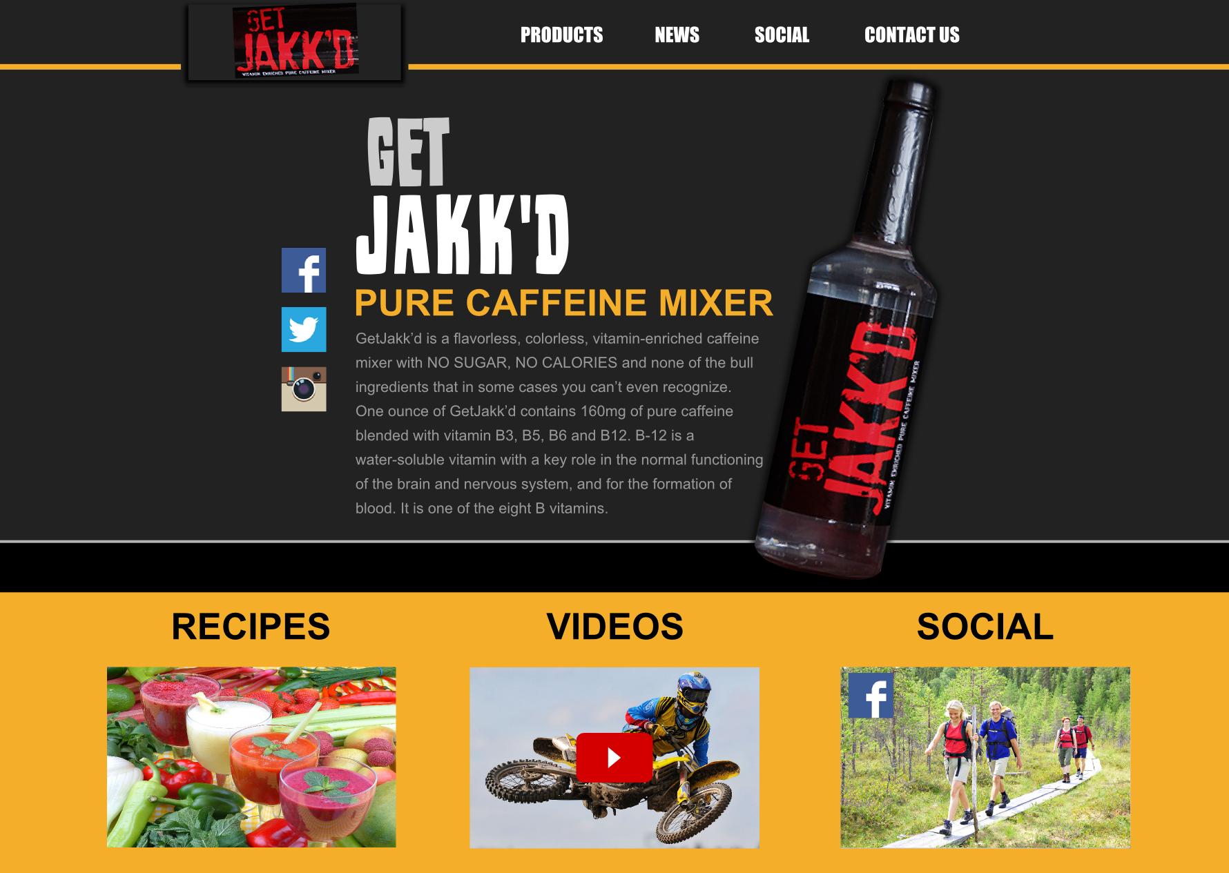 get jakkd website design mockup