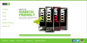 mixxx website design mockup