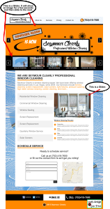 Window Washing Contractor Website Design Mockup