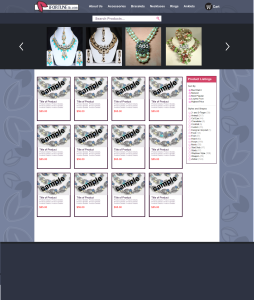 ecommerce web design mockup