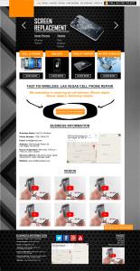 Mobile Phone Repair Store Web Design Mockup
