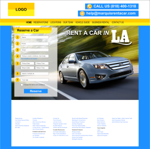 Car Rental Website Design Mockup