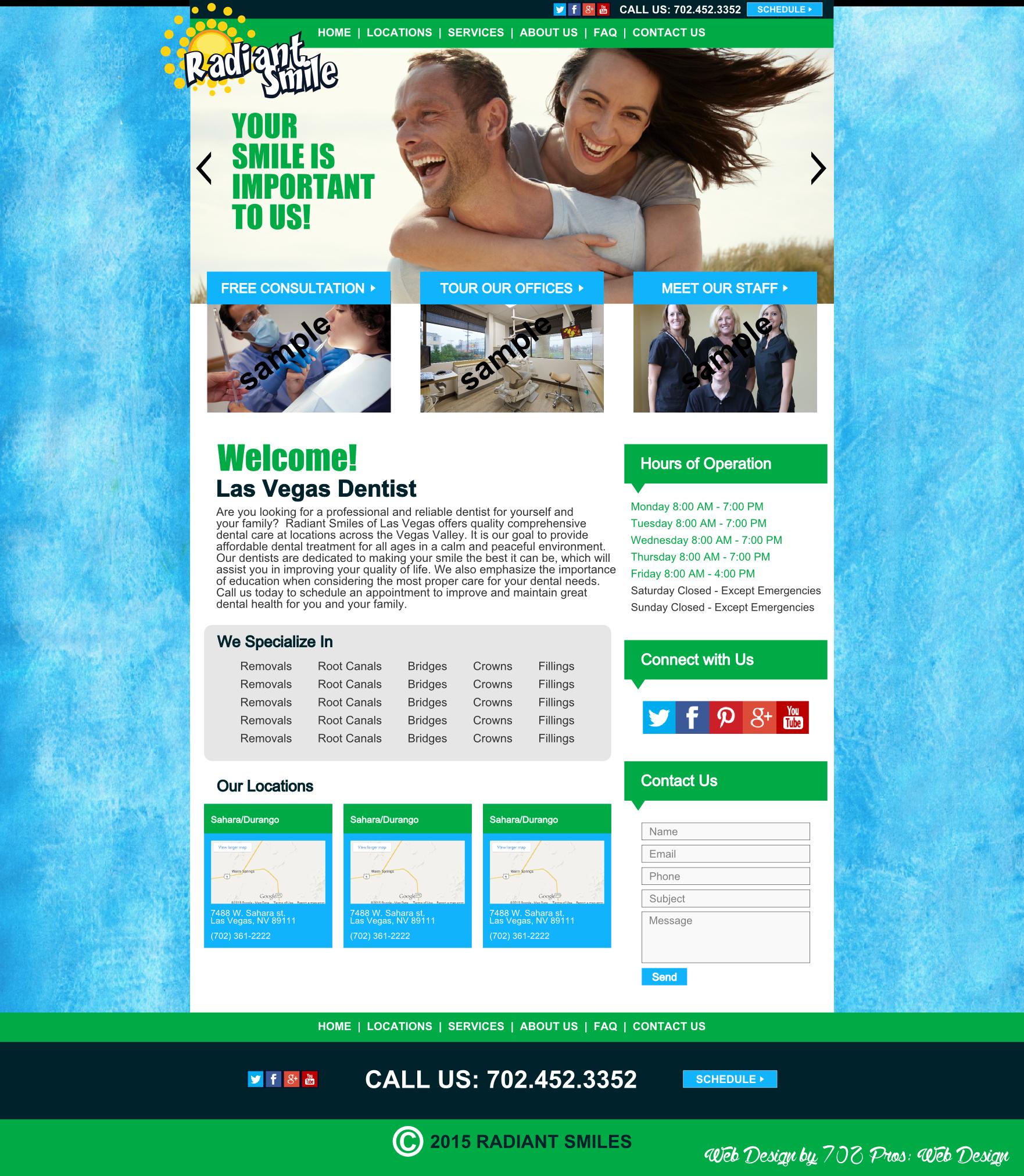 Dentist Website Design Mockup