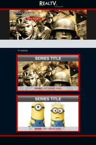 Real TV Entertainment Website Design Mockup
