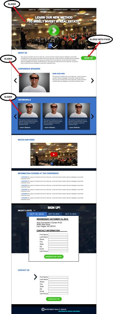 Realty Information Website Design Mockup