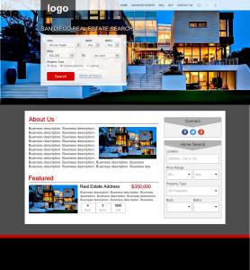 realty website design mockup