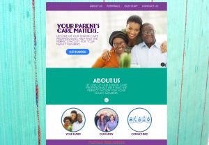 senior referral web design mockup