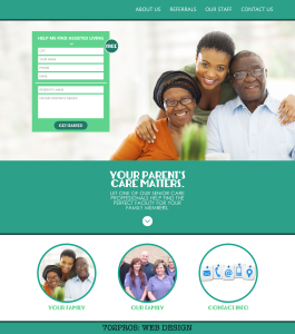 senior referral web design mockup