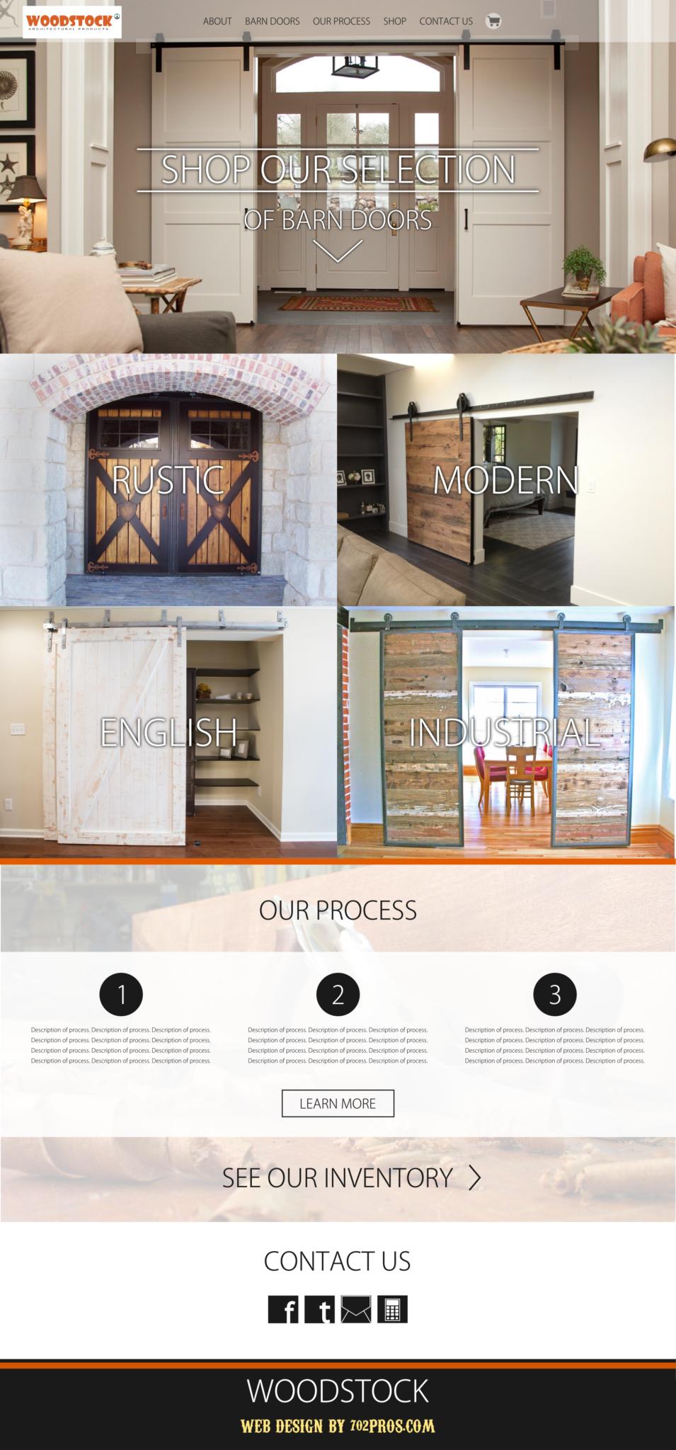 woodstock website design mockup
