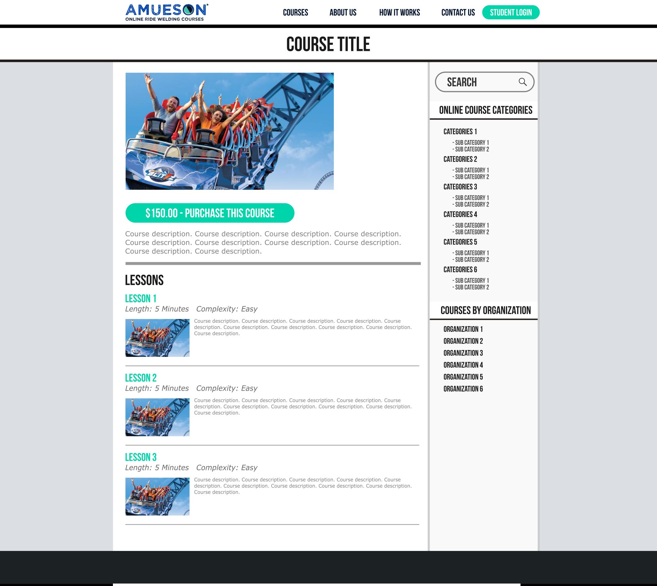 Amusement Ride Welding Course - Course Page