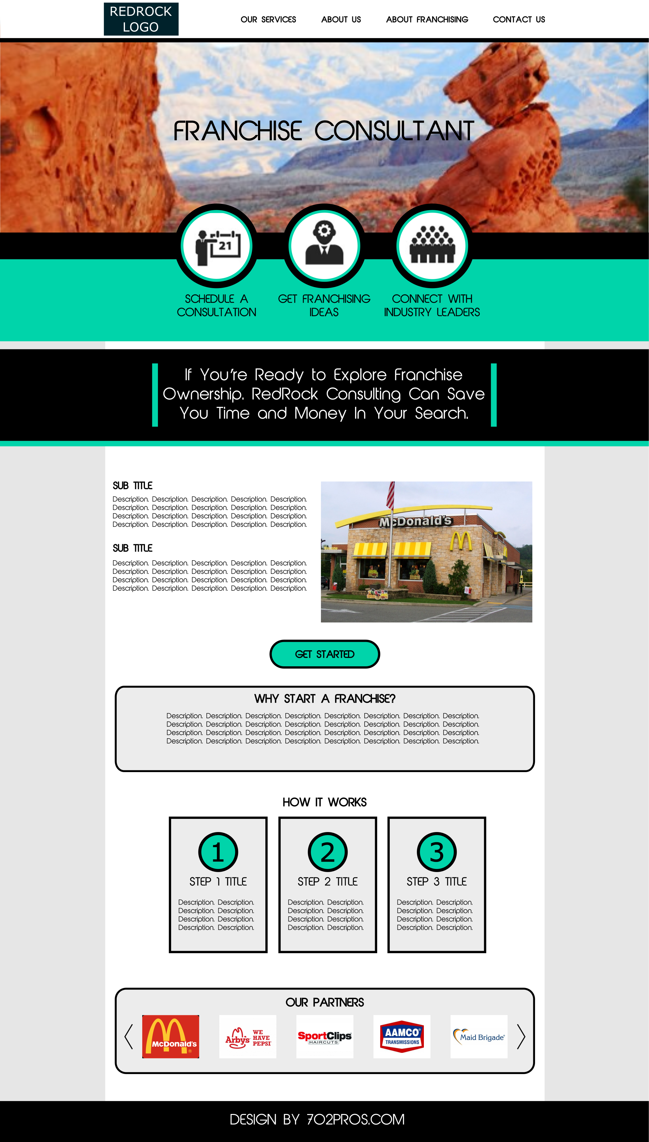 redrock website design mockup