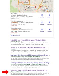 las vegas seo company seo result - organic - 702 pros: web design and seo