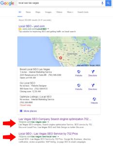 local las vegas seo company seo result - organic - 702 pros: web design and seo