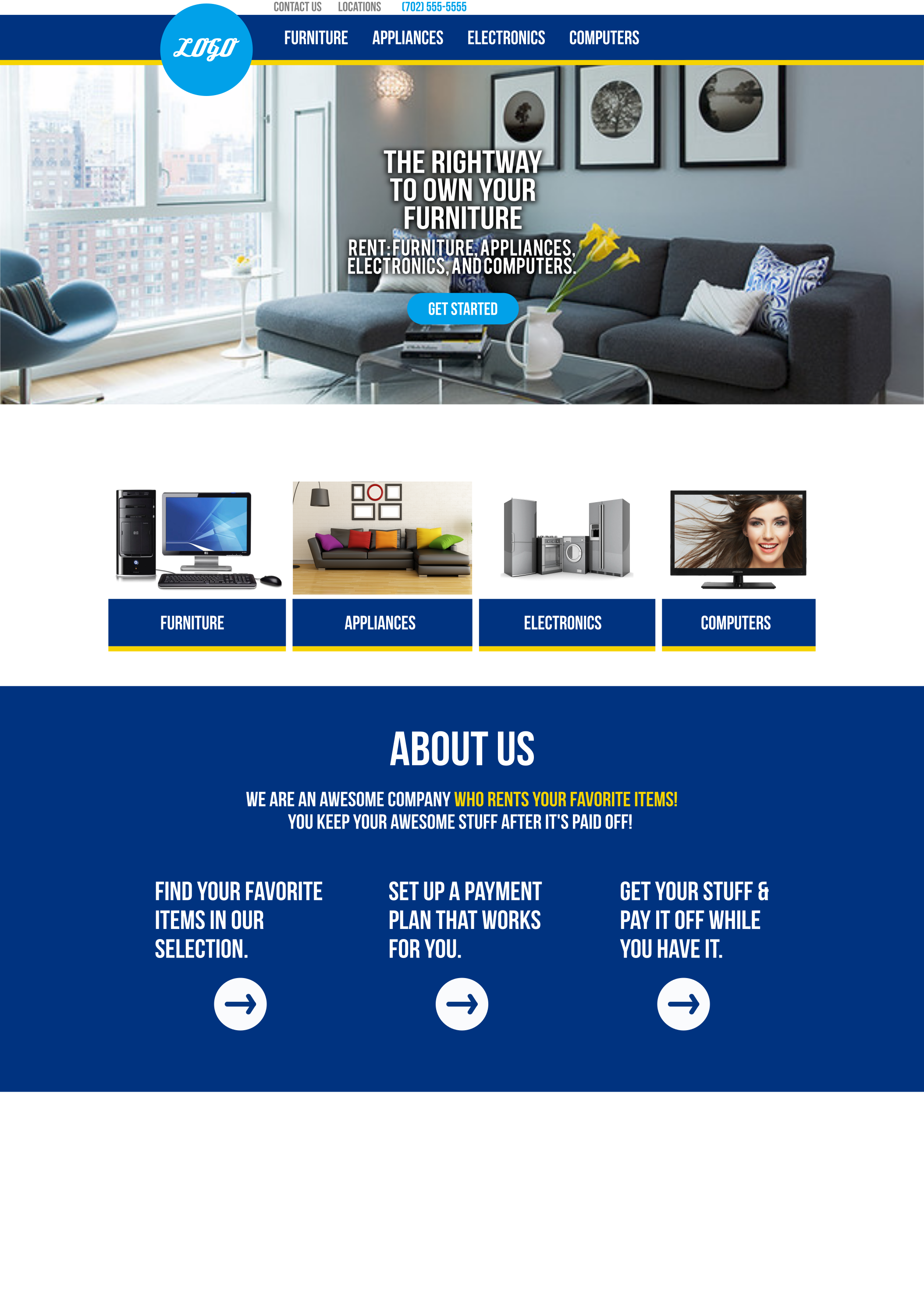 rightway furniture - website mockup1