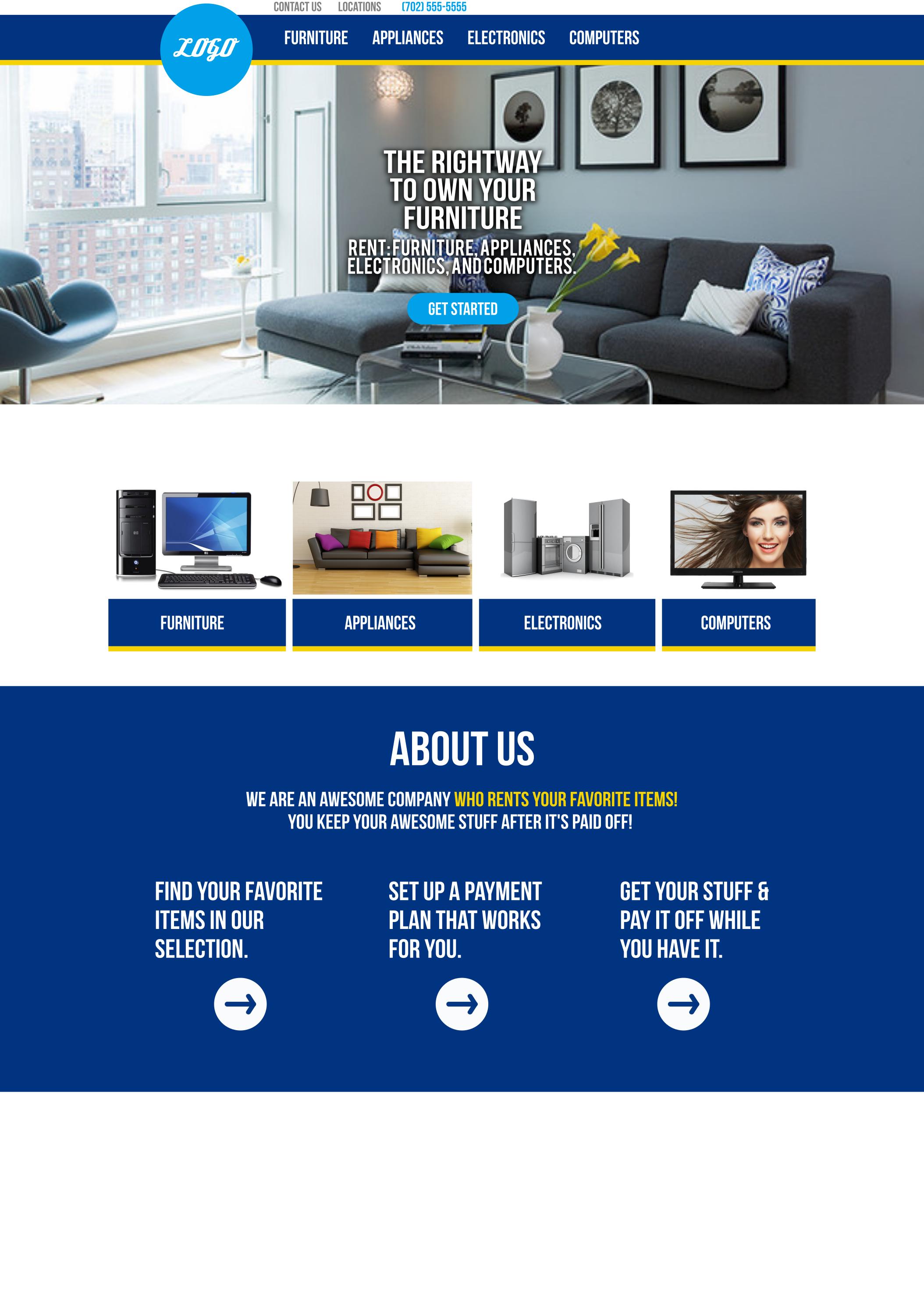 Rightway Furniture   Website Mockup1