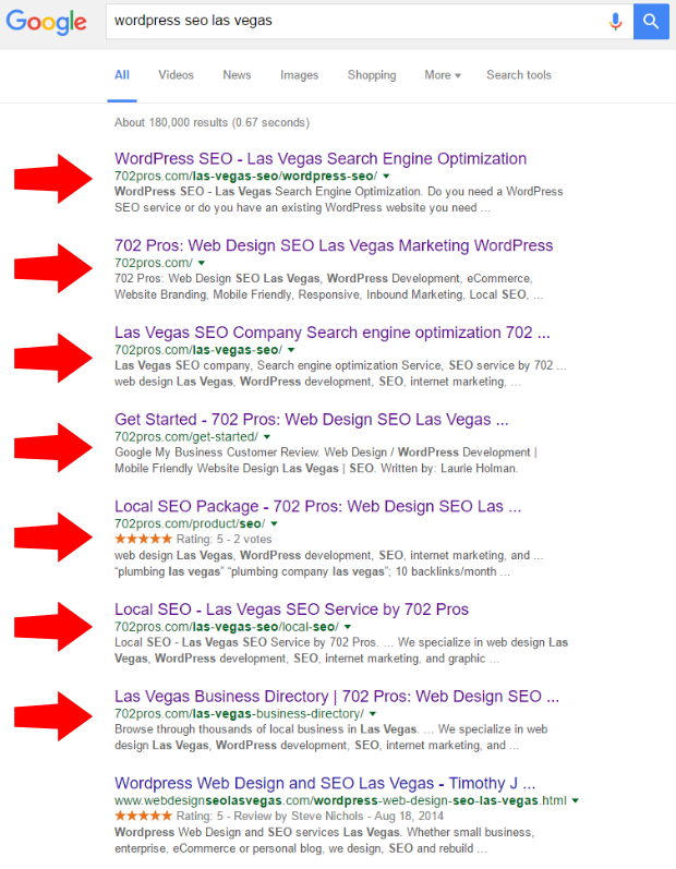 wordpress seo - seo result - organic - 702 pros: web design and seo