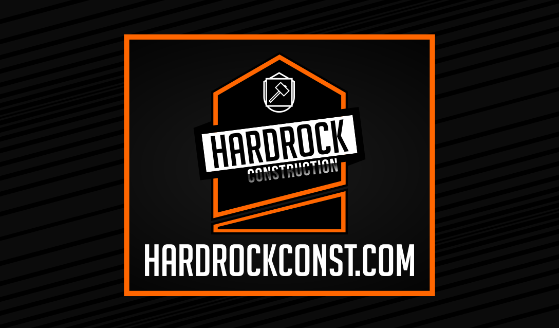 las vegas business card design , graphic design by 702 pros for hardrock construction