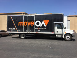 Our branded moveON moving truck