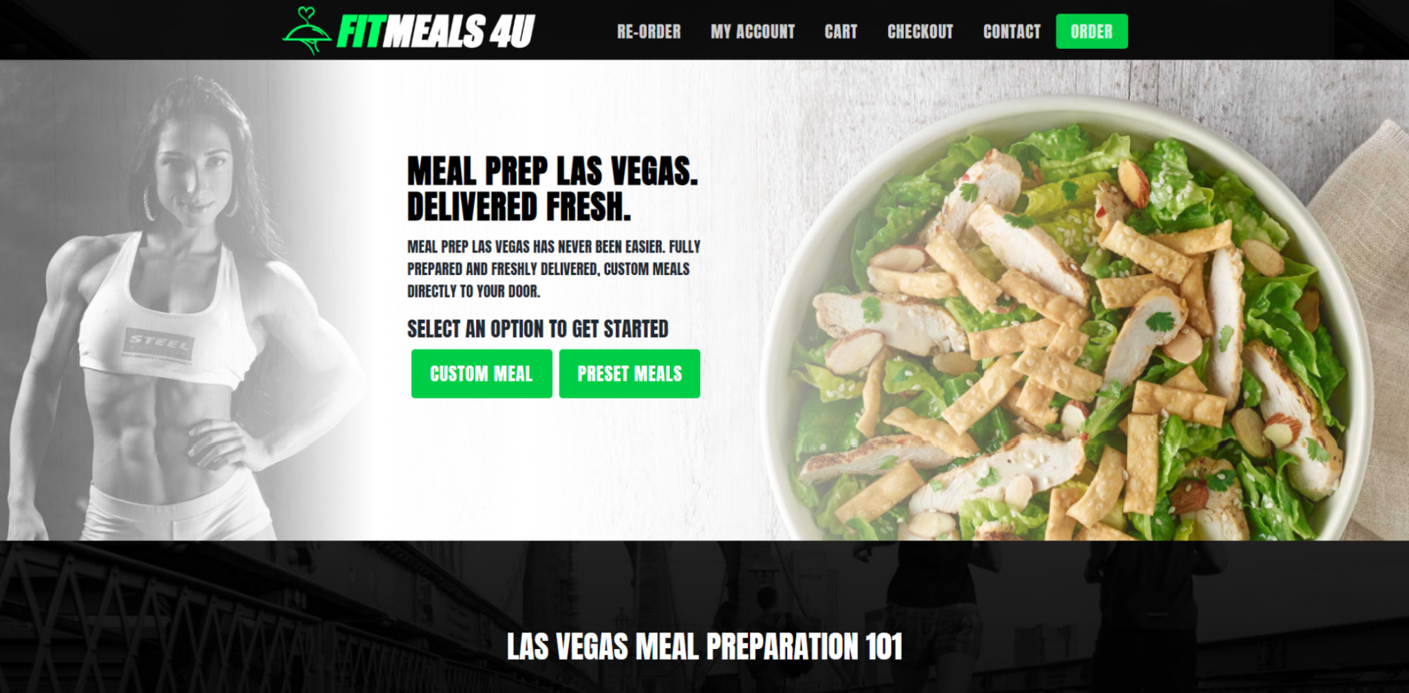 fit meals 4u - web design example by 702 pros las vegas