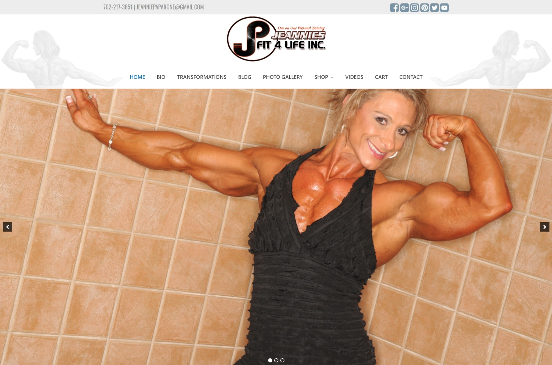 jeannies fit 4life website example by 702 pros for website portfolio