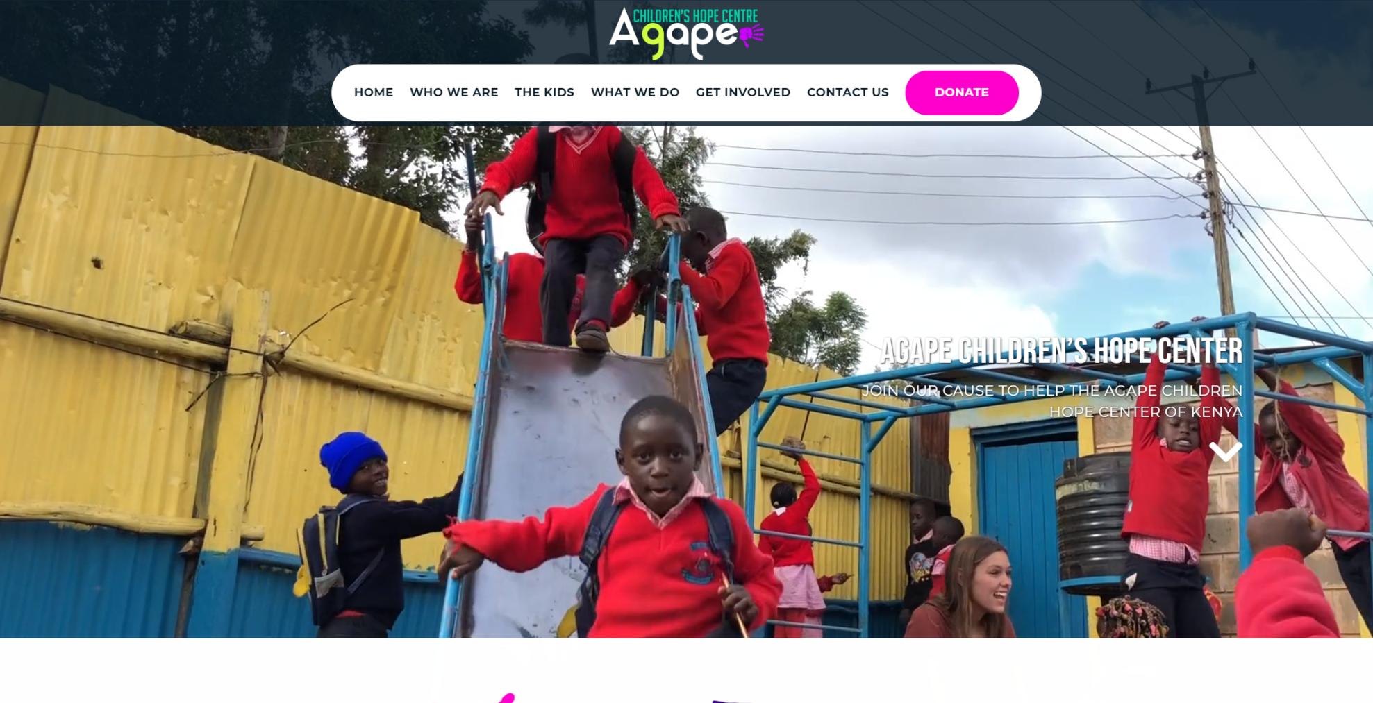 las vegas website development by 702 Pros LLC for Agape Children Hope Centre | Justin Young