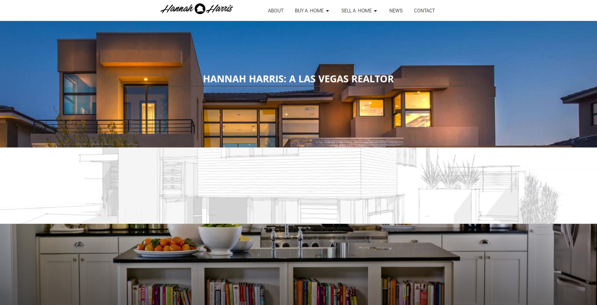 las vegas website development by 702 Pros LLC for Hannah Harris | Justin Young
