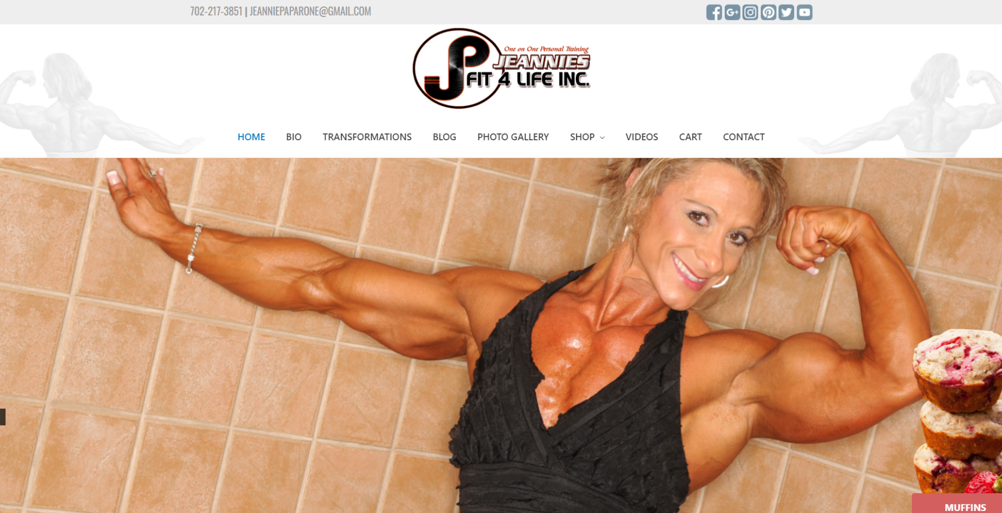 las vegas website development by 702 Pros LLC for Jeannies Fit 4 Life | Justin Young
