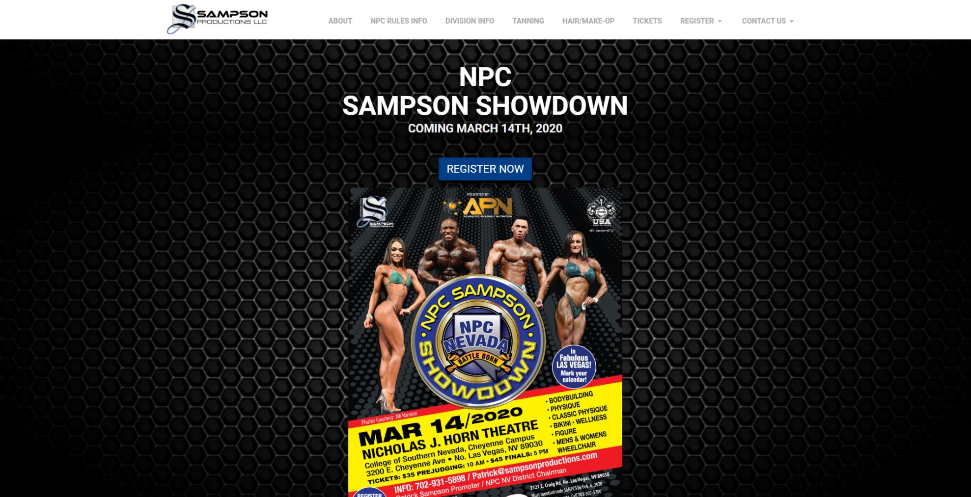 Sampsons Productions website design by 702 Pros