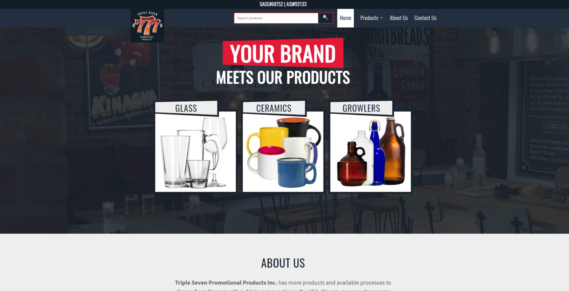 777 Promotional Products website designed by 702 Pros