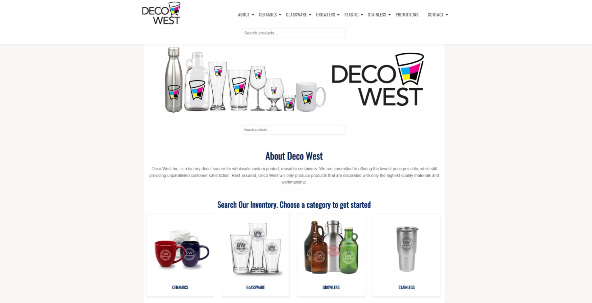 Decowest website designed by 702 Pros