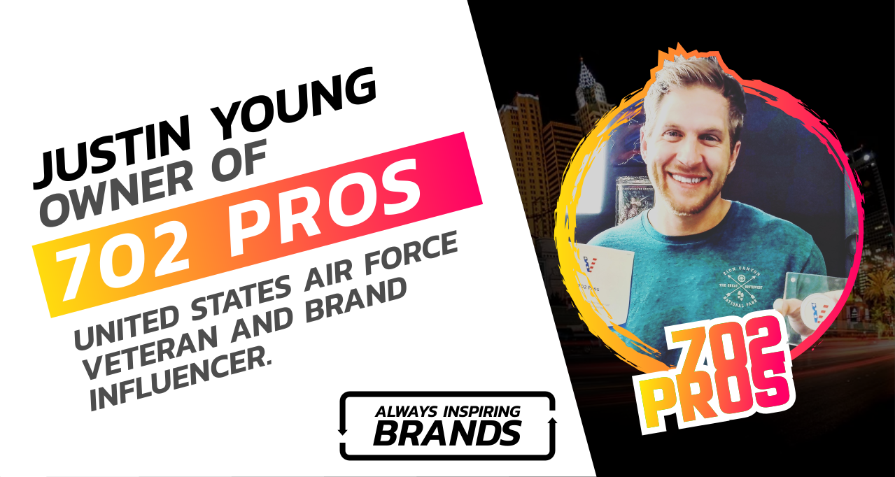 owner of 702 Pros llc, Justin Young, USAF Air Veteran and Brand Influencer
