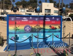Custom Fabric Printed Step and Repeat, provided by CRC Prints