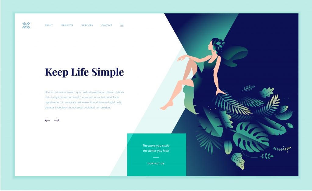 beautiful website example