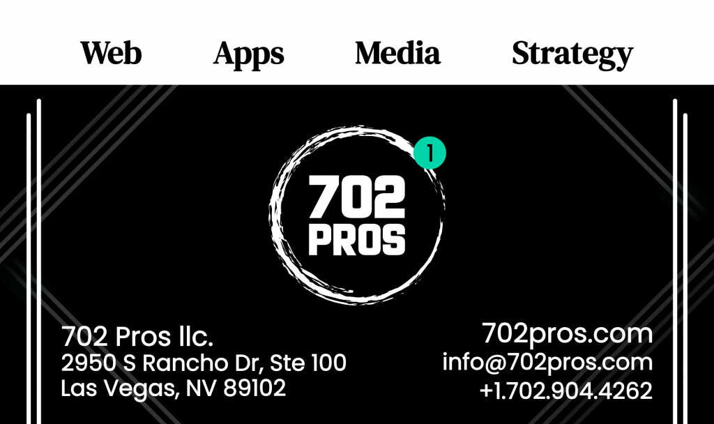 Digital Marketing Agency Business Card Example Back by 702 Pros