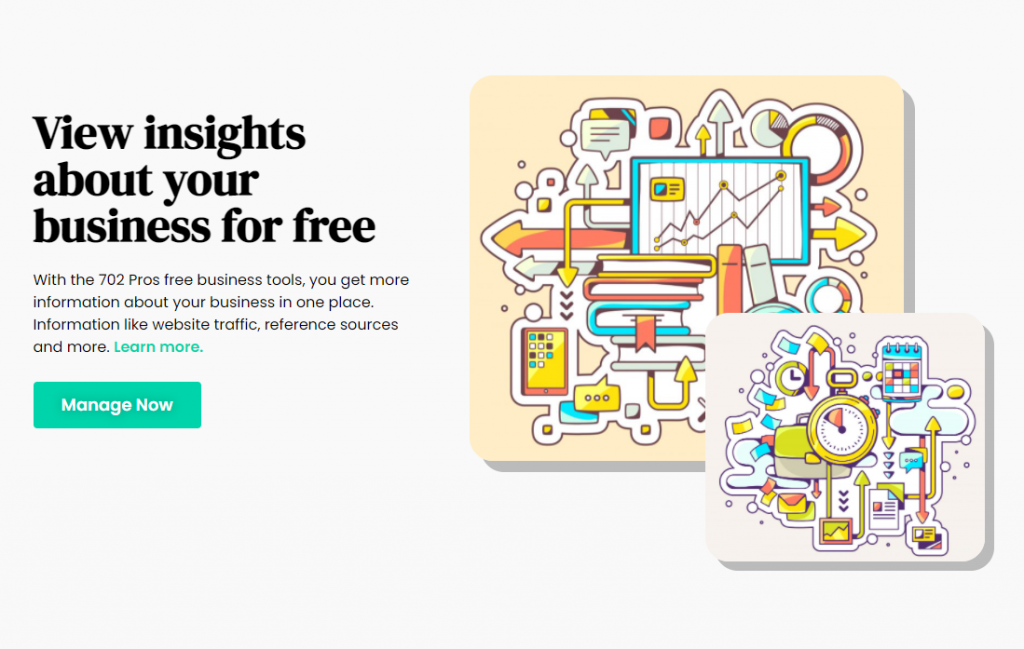 Business Insights featured image - web design project case study