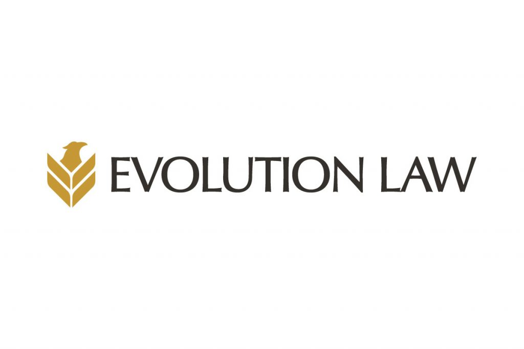 Logo design created for the Evolution Injury Law Brand.