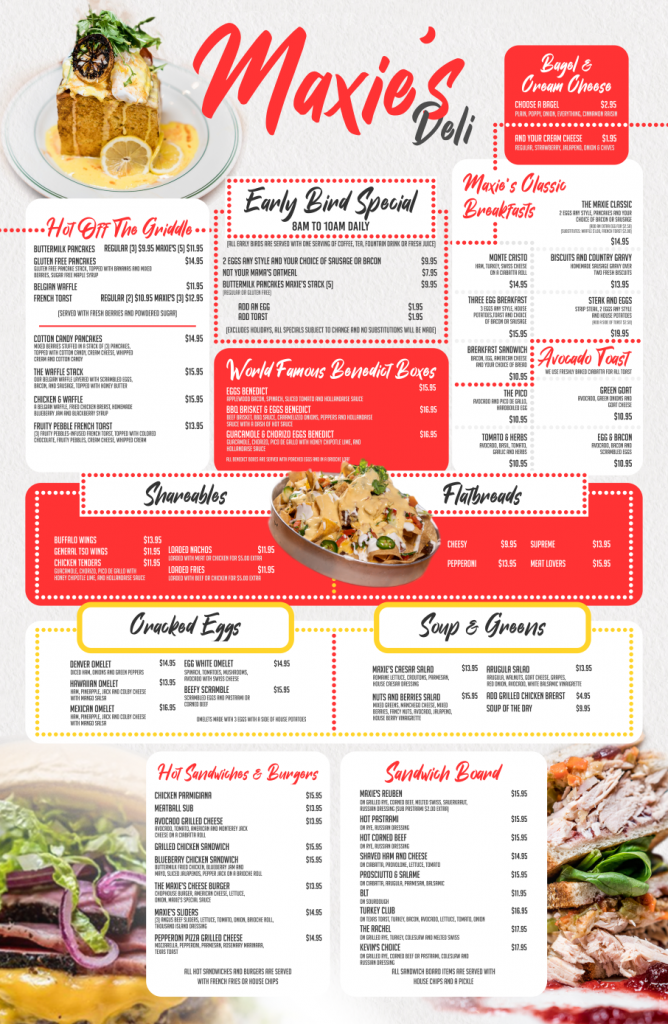 Maxies Las Vegas Menu Design - Graphic Design by 702 Pros