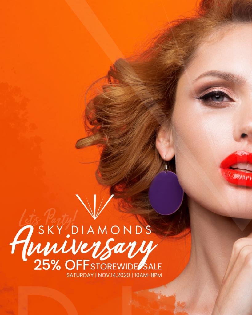 Sky Diamonds Graphic Design Social Media Art by 702 Pros