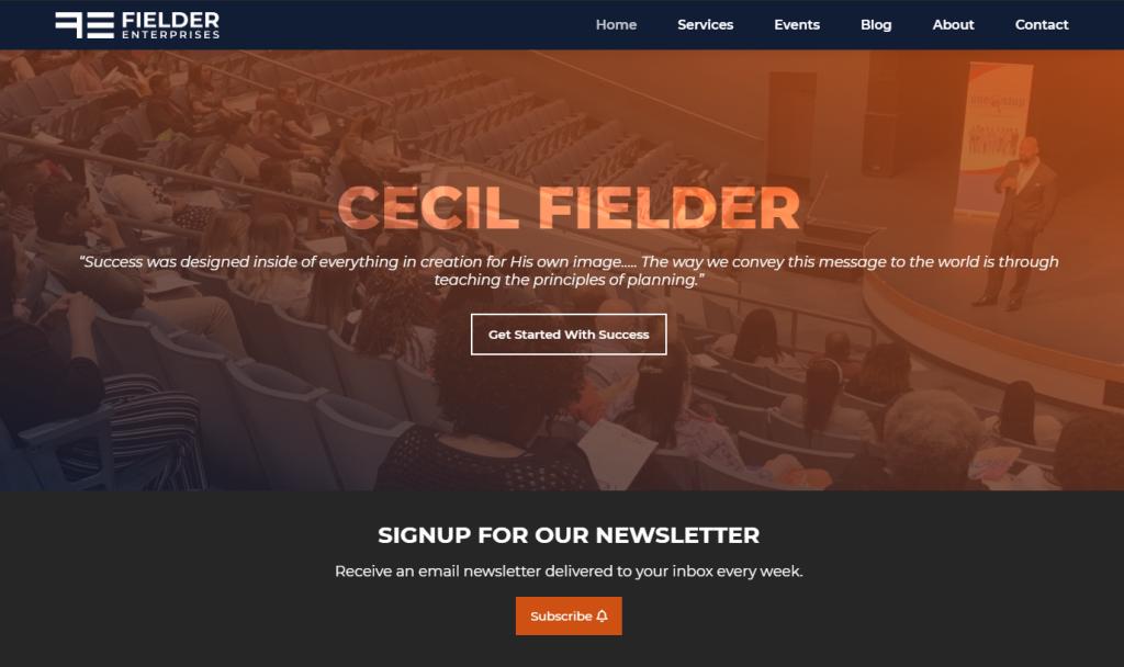 Fielder Enterprises Homepage Web Design by 702 Pros.