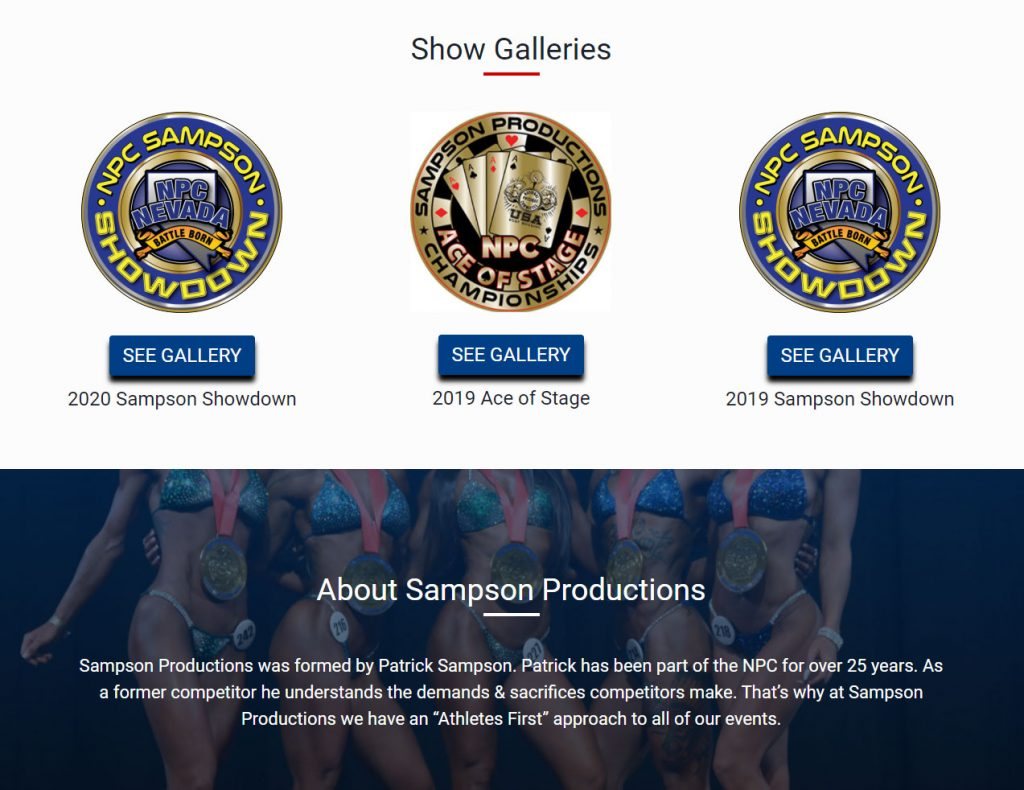 sampson productions home page galleries