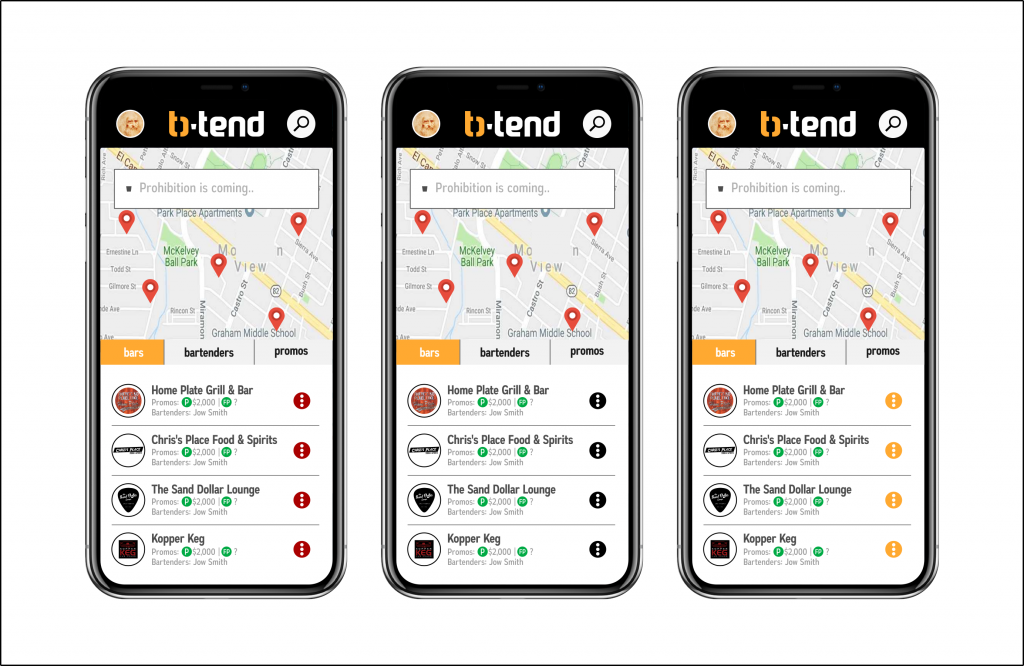 B Tend App Design - Search Features by 702 Pros