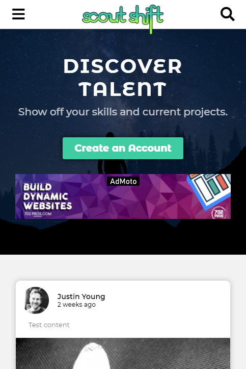 Scoutshift - Mobile Design - web design project - 702 Pros