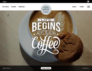 Grow your online business - coffee shop website mockup | PPC management Las Vegas