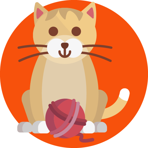 Animated Cat with ball of yarn graphic design by 702 Pros
