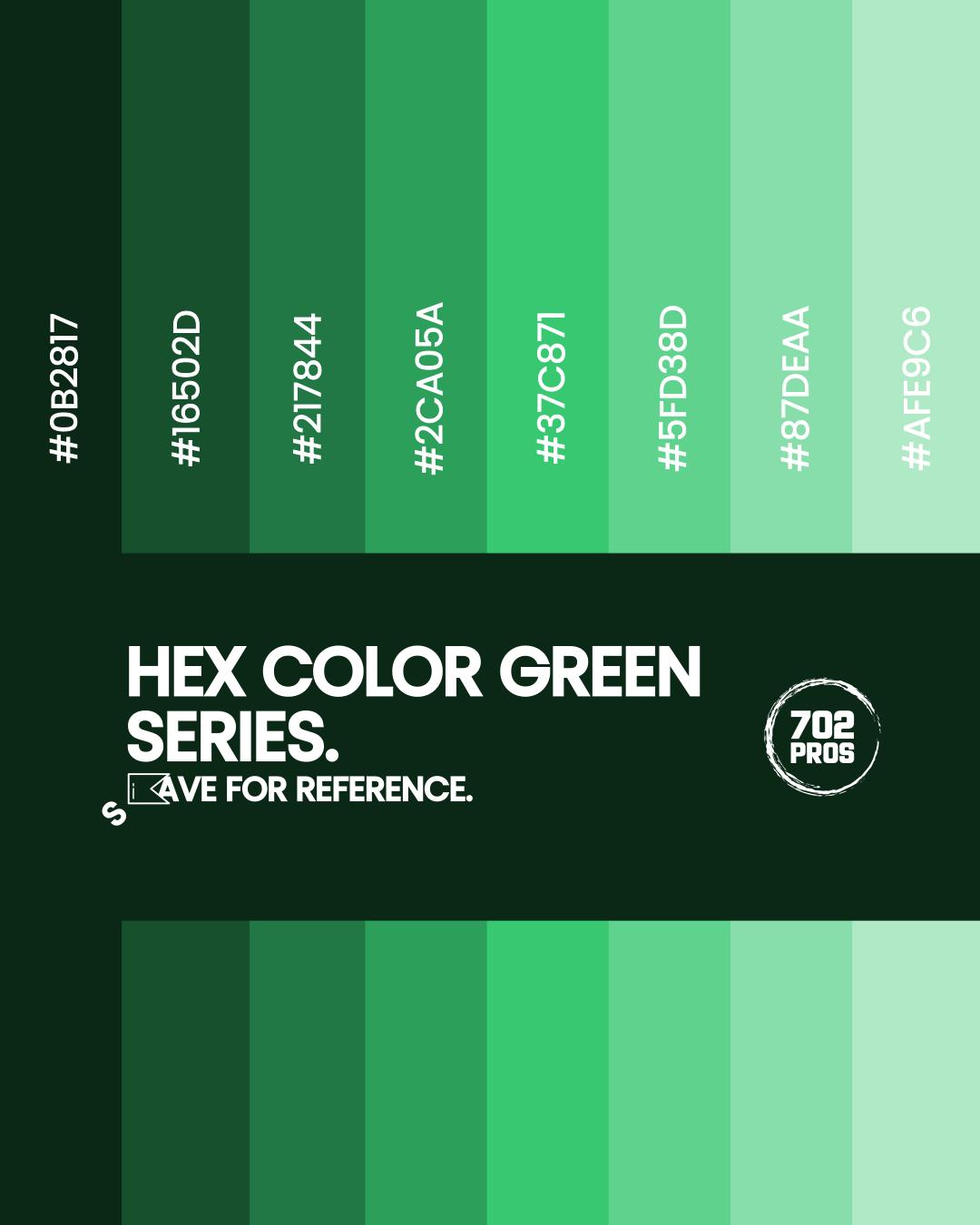 Web design rules | color contrast | Hex Color Green Series - slide 5