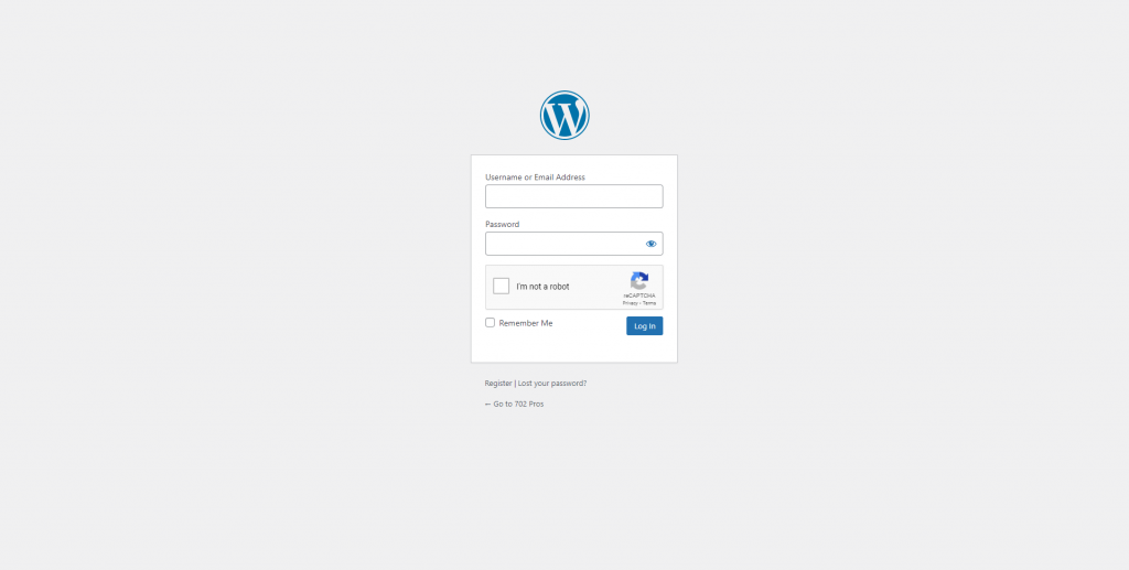 How to Change Your Author Display Name in Your WordPress Blog - WordPress login page