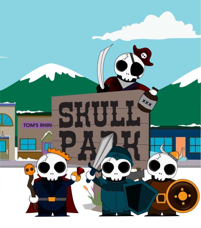 Skull Pals | Skull Park Graphic | Graphic Design by 702 Pros