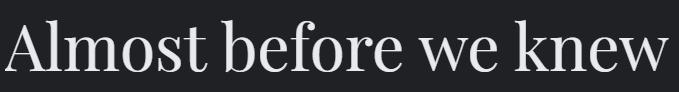 Serif Font Example - web design rules - 702 Pros